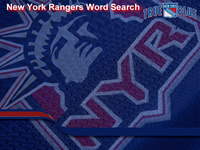 New York Rangers Wordsearch
